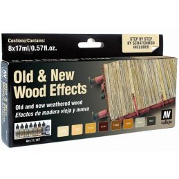 Vallejo Model Air Old & New Wood Effects Paint Set