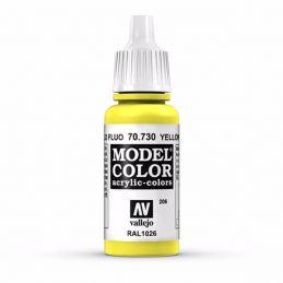 Vallejo Model Color 17ml  Fluorescent Yellow