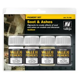 Vallejo Pigments Set - Soot & Ashes