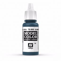 Vallejo Model Color 17ml  Metallic Gunmetal Blue