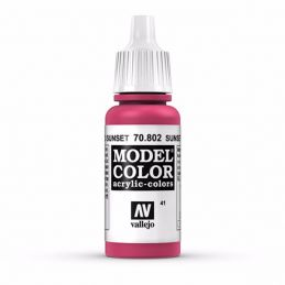 Vallejo Model Color 17ml  Sunset Red