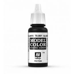Vallejo Model Color 17ml  Gloss Black