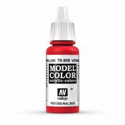 Vallejo Model Color 17ml  Vermillion