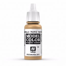 Vallejo Model Color 17ml  Tan Yellow