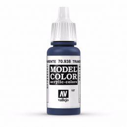 Vallejo Model Color 17ml  Transparent Blue