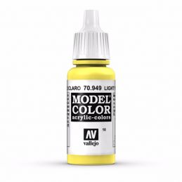 Vallejo Model Color 17ml  Light Yellow