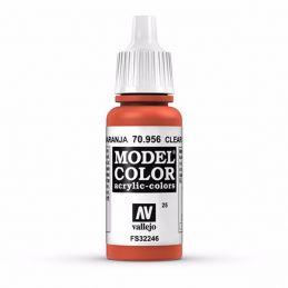 Vallejo Model Color 17ml  Clear Orange