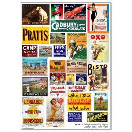 Vintage Advertising Signs Self Adhesive Vinyl 1:24 30 or 1:43 Scale - Vintage Signs1:24/30 Scale