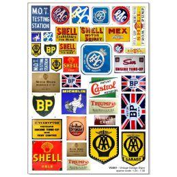 Vintage Garage Signs 1:24-1:30 and 1:43