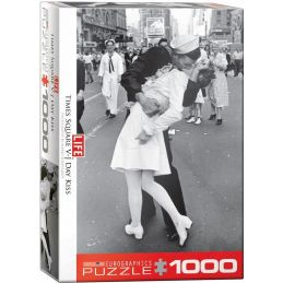 Eurographics Life Magazine VJ Day Kiss In Times Square 1000 Piece Jigsaw