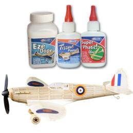 Vintage Models Balsa Spitfire Kit and Glue Deal