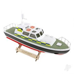 Police Launch Wooden Boat Kit 400mm