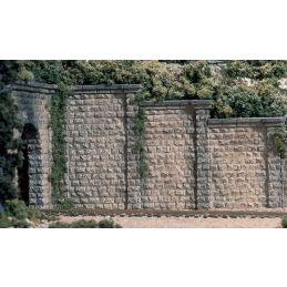 HO Cut Stone Retaining Wall (x3)