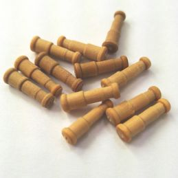 12 X Wooden Cannons 15mm
