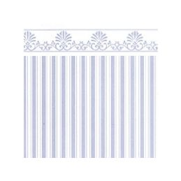 Majestic Aqua White Wallpaper for Dolls House