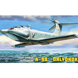 Zvezda Troop Carrier A-90 Ekranoplan 1:144 Scale Plastic Model Kit