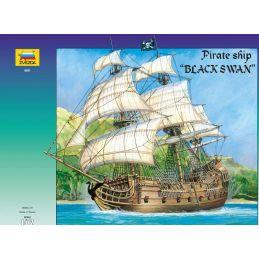 Zvezda Black Swan Pirate Ship 1:72 Scale Model Kit - Starter Paint Pack 7 x 17ml