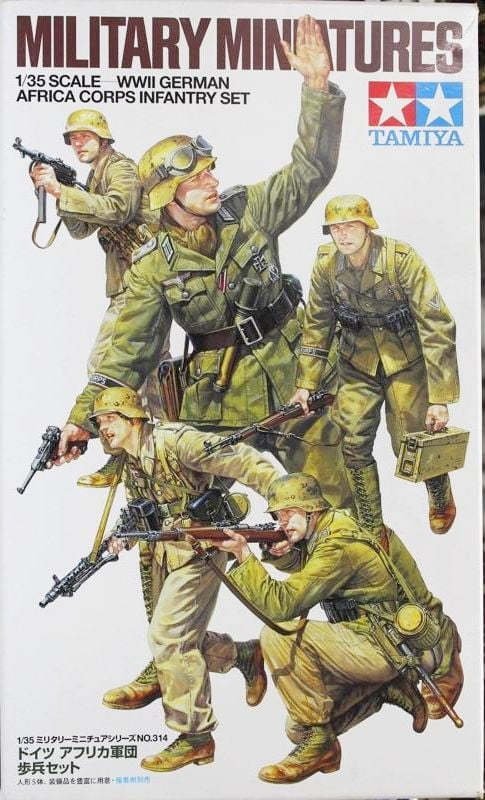 Tamiya Wwii German Africa Corps Infantry Set 1 35th Scale