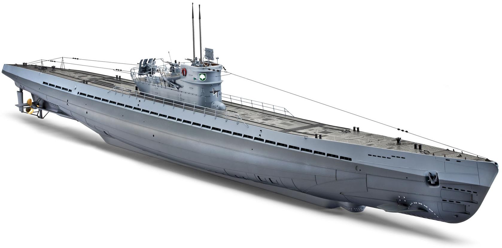 Revell German Submarine IX C 1:72 Scale Plastic Model Kit 05114 | Hobbies