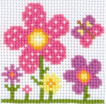 sarah flower cross stitch