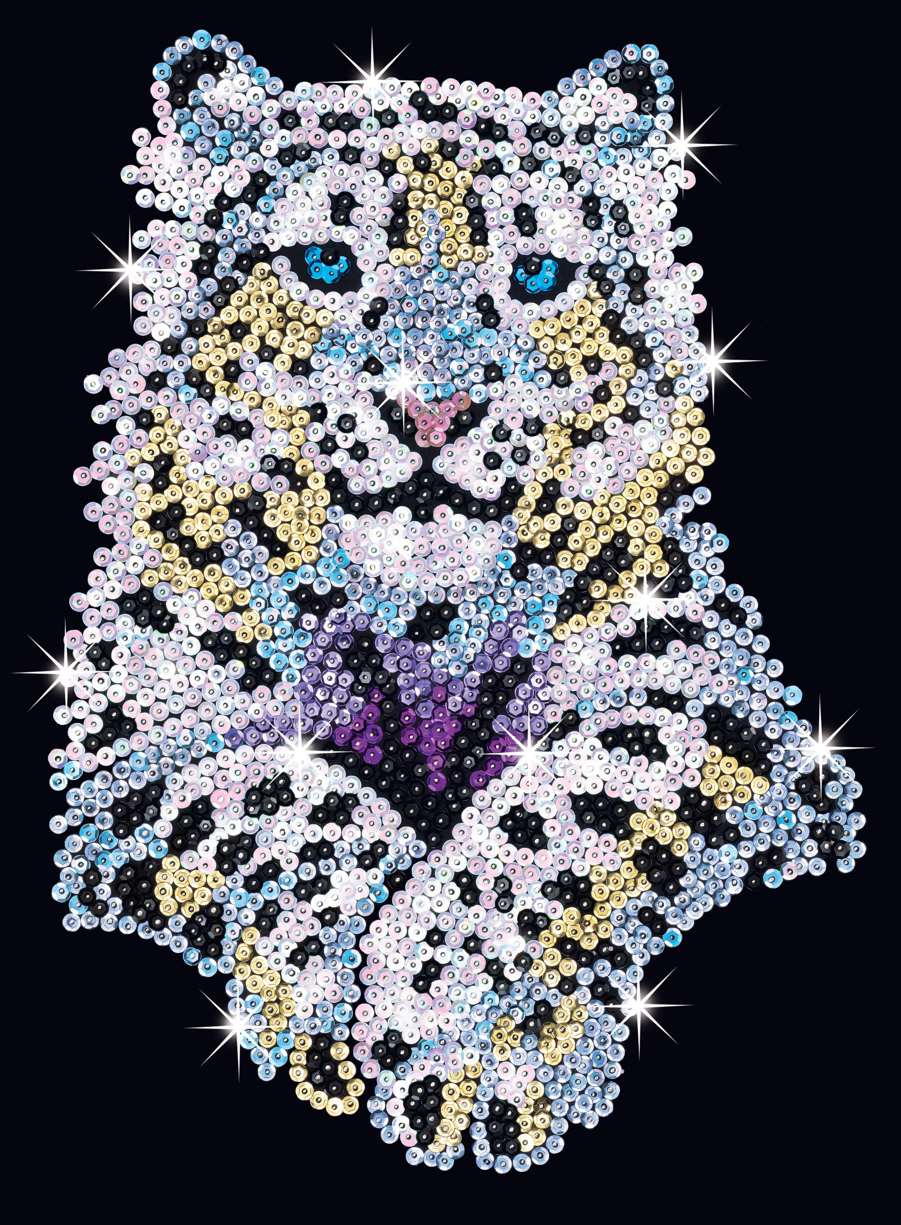 Sequin Art Snow Leopard Craft Kit Hobbies