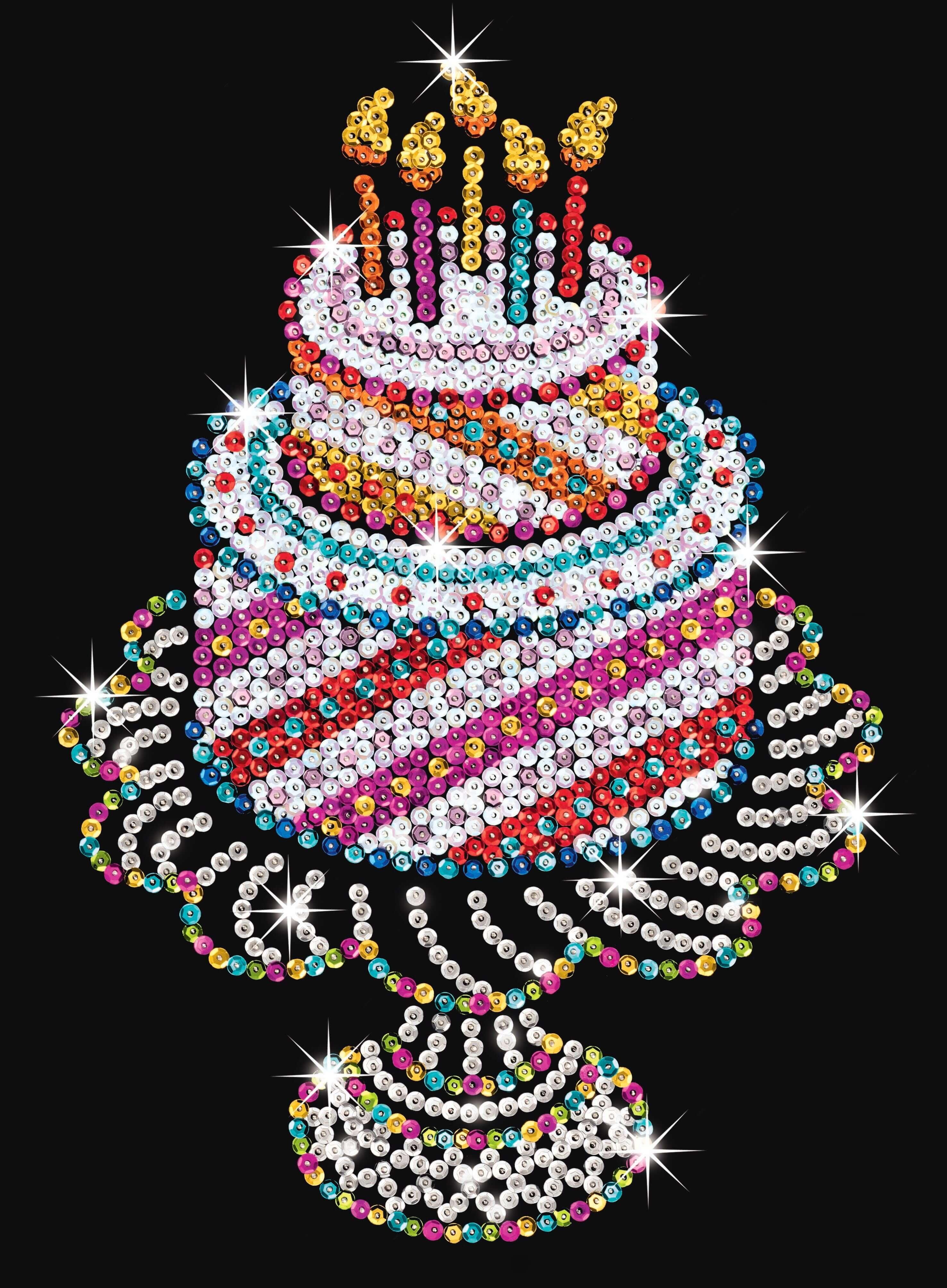 KSG Sequin Art Birthday Cake | Hobbies