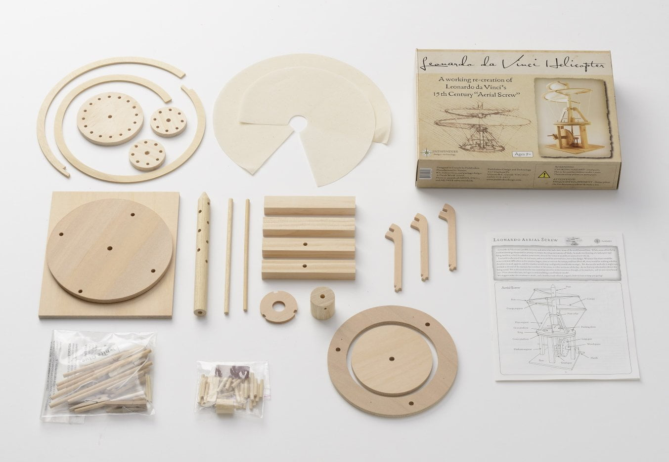 Pathfinders Leonardo da Vinci Aerial Screw Helicopter ...