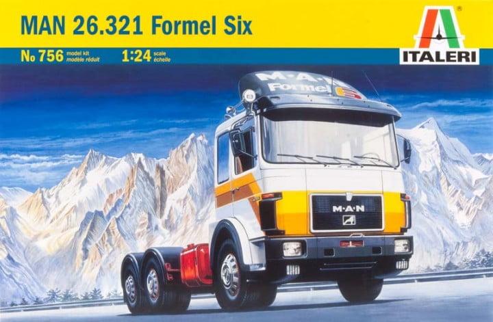 Italeri Man 26 321 Formel Six Truck Model Kit 756 Hobbies