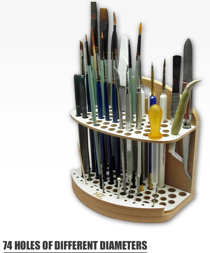 brushes and tool holder