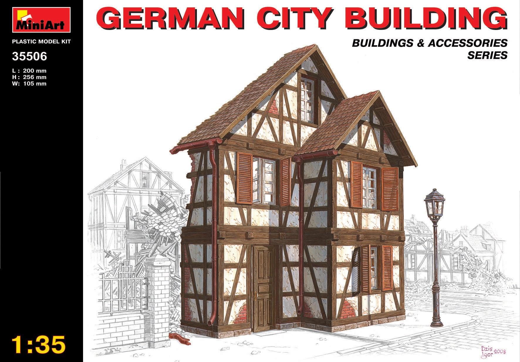 Miniart German City Building Ruins 1 35 Scale Plastic