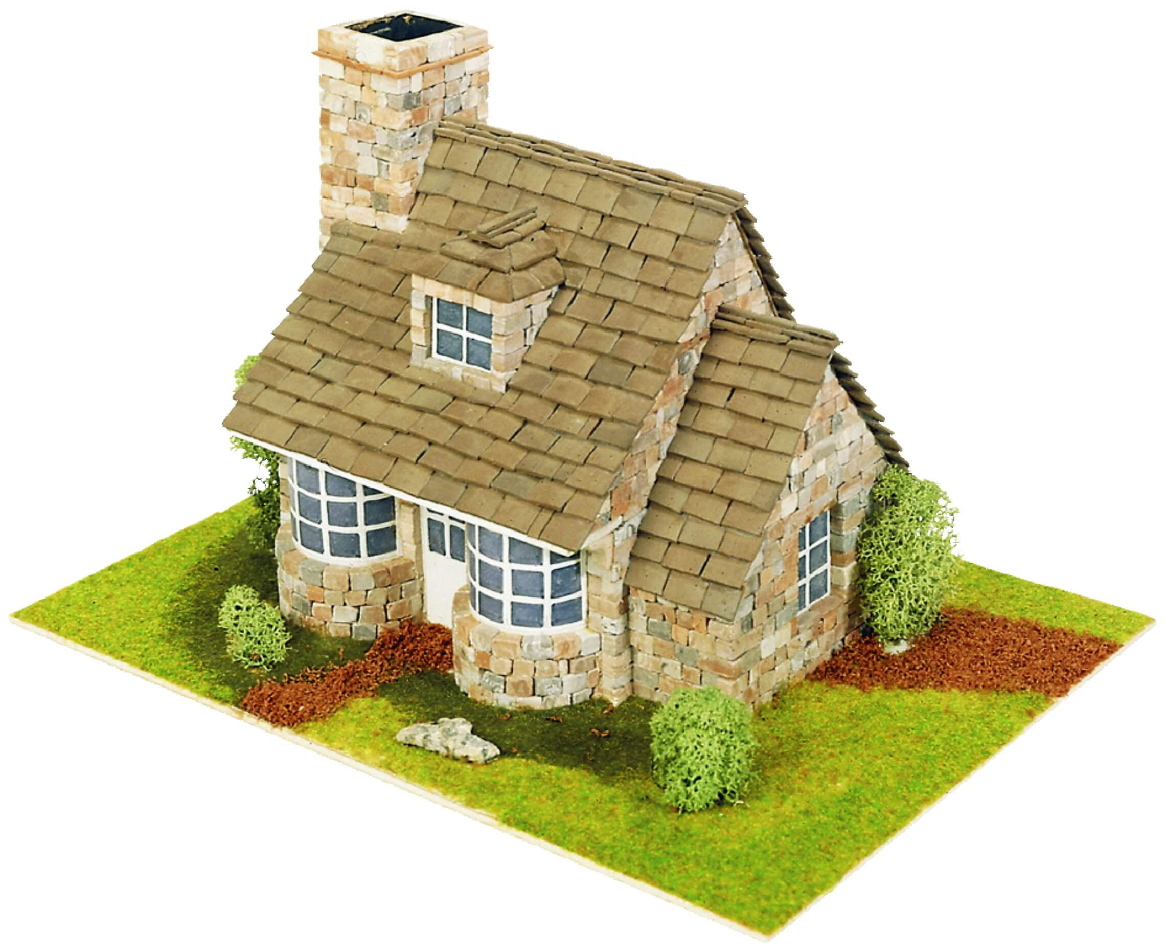 Domus kits country cottage 40041 hobbies for Brick kit homes