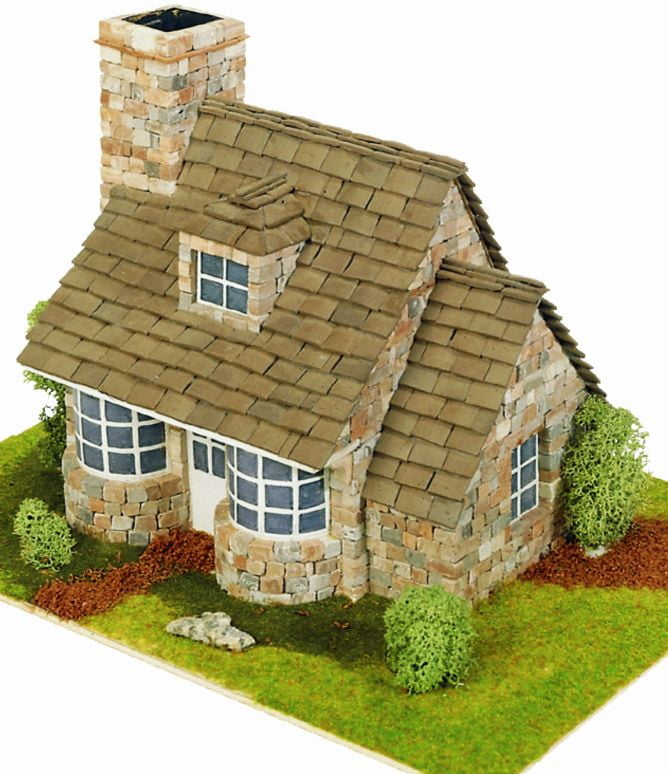 Domus kits country cottage 40041 hobbies for Mud brick kit homes