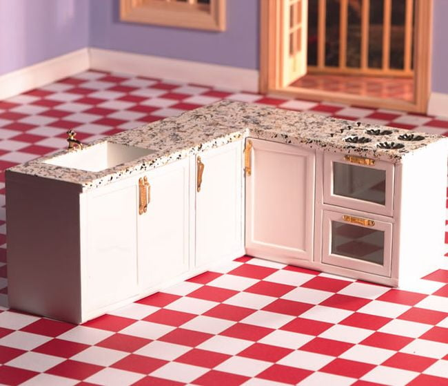 All In One L Shape Kitchen Set 12th Scale For Dolls House