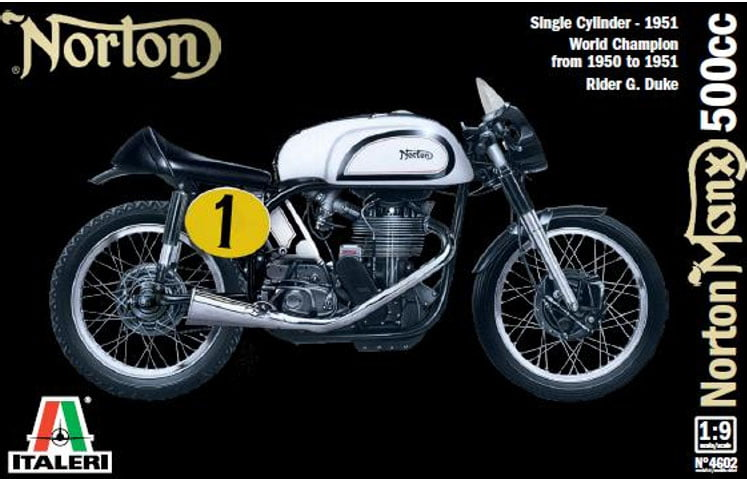 Italeri 1951 Norton Manx 500cc Motorcycle Plastic Model Kit