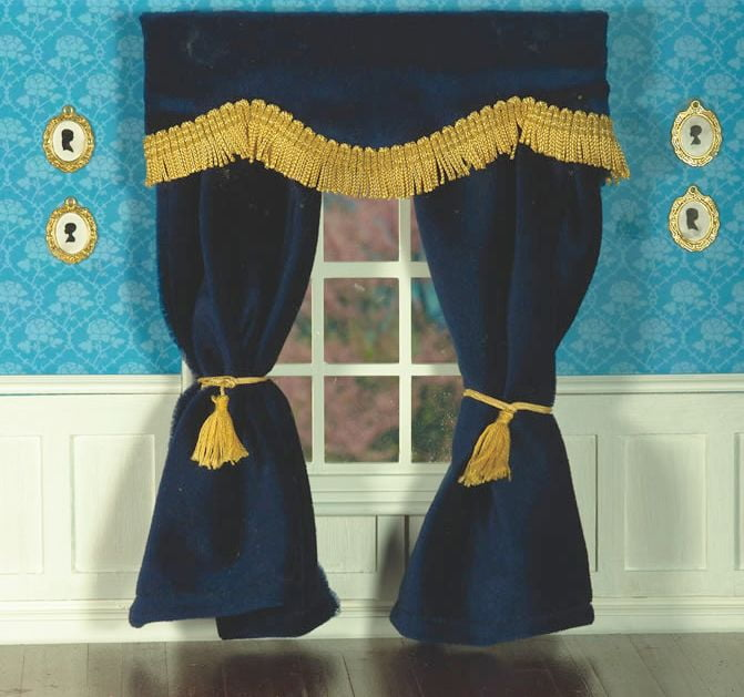 Plush Navy Blue Velvet Curtains