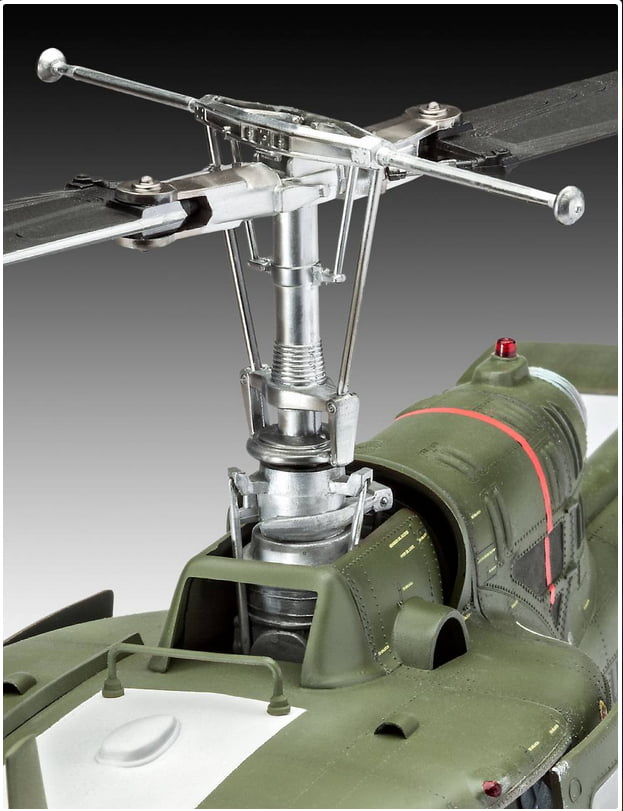 Revell Bell UH-1 Huey 1:24 Scale Plastic Model Helicopter Kit ...