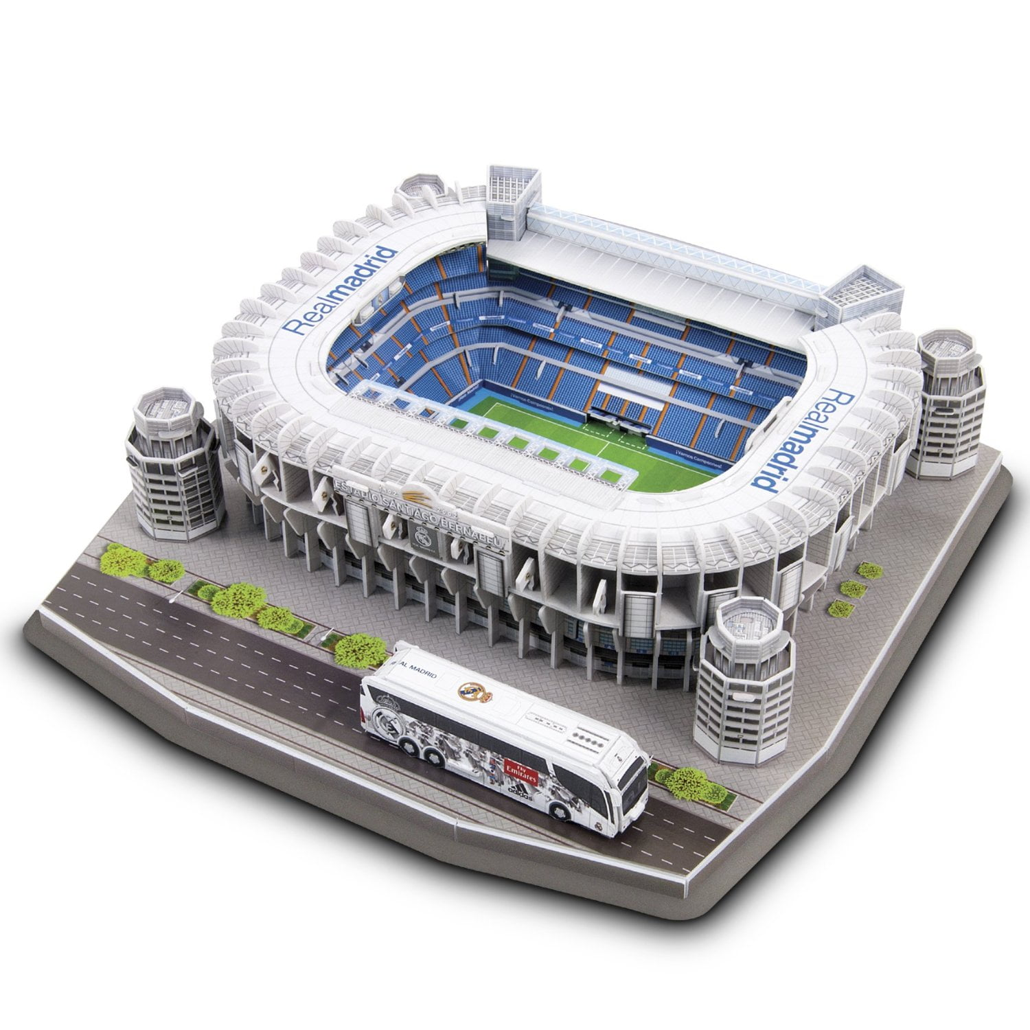 Official real madrid f c santiago bernabeu 3d replica - Puzzles el corte ingles ...