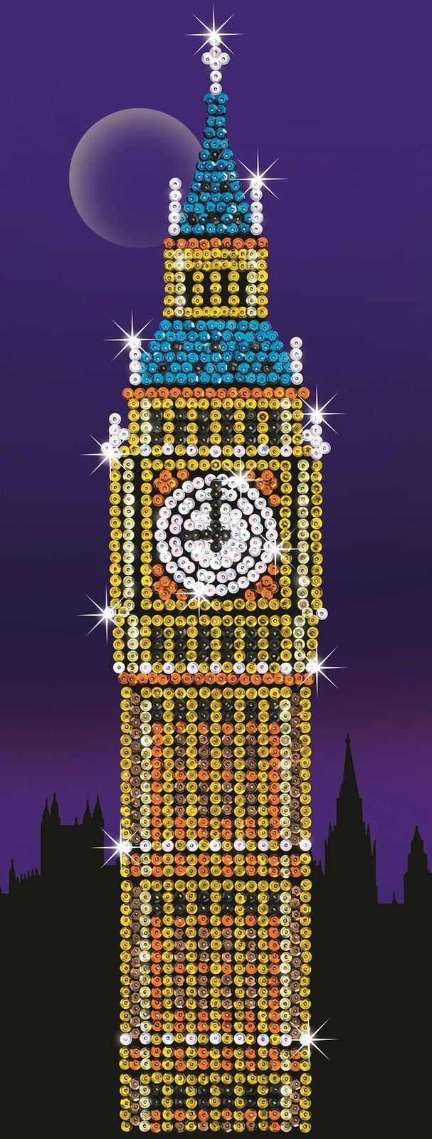Strictly Sequin Art Big Ben Craft Picture Kit Sa1406 Hobbies
