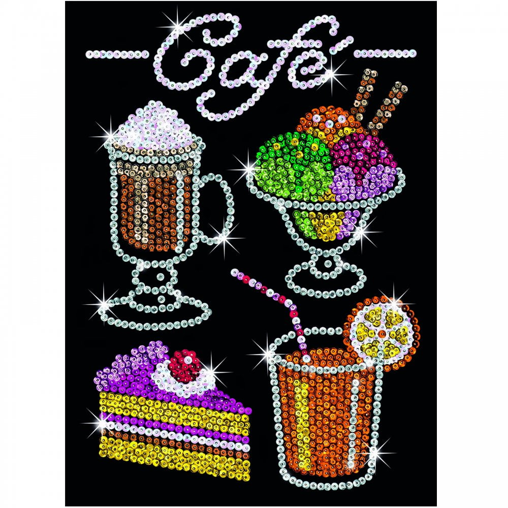 Craft: Sequin Art Cafe Treats Sparkly Craft Picture Kit SA1424