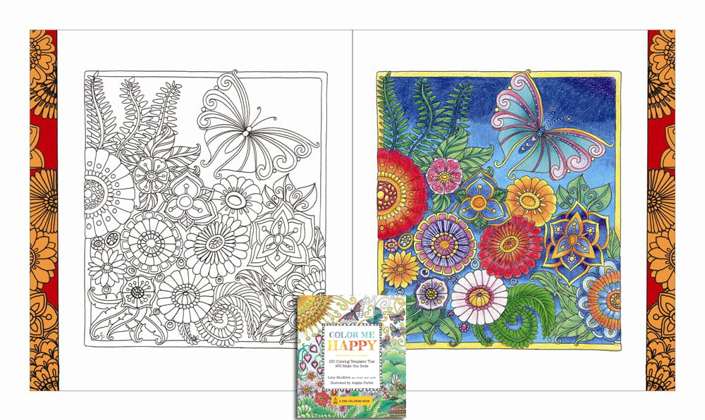 Colour Me Happy Adult Colouring Book