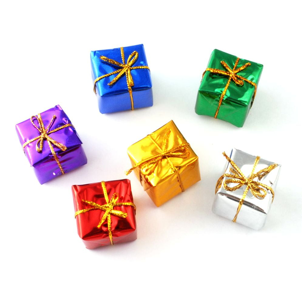 Pack of 6 Gift Wrapped Christmas Presents 1:12 Scale for Dolls House ...