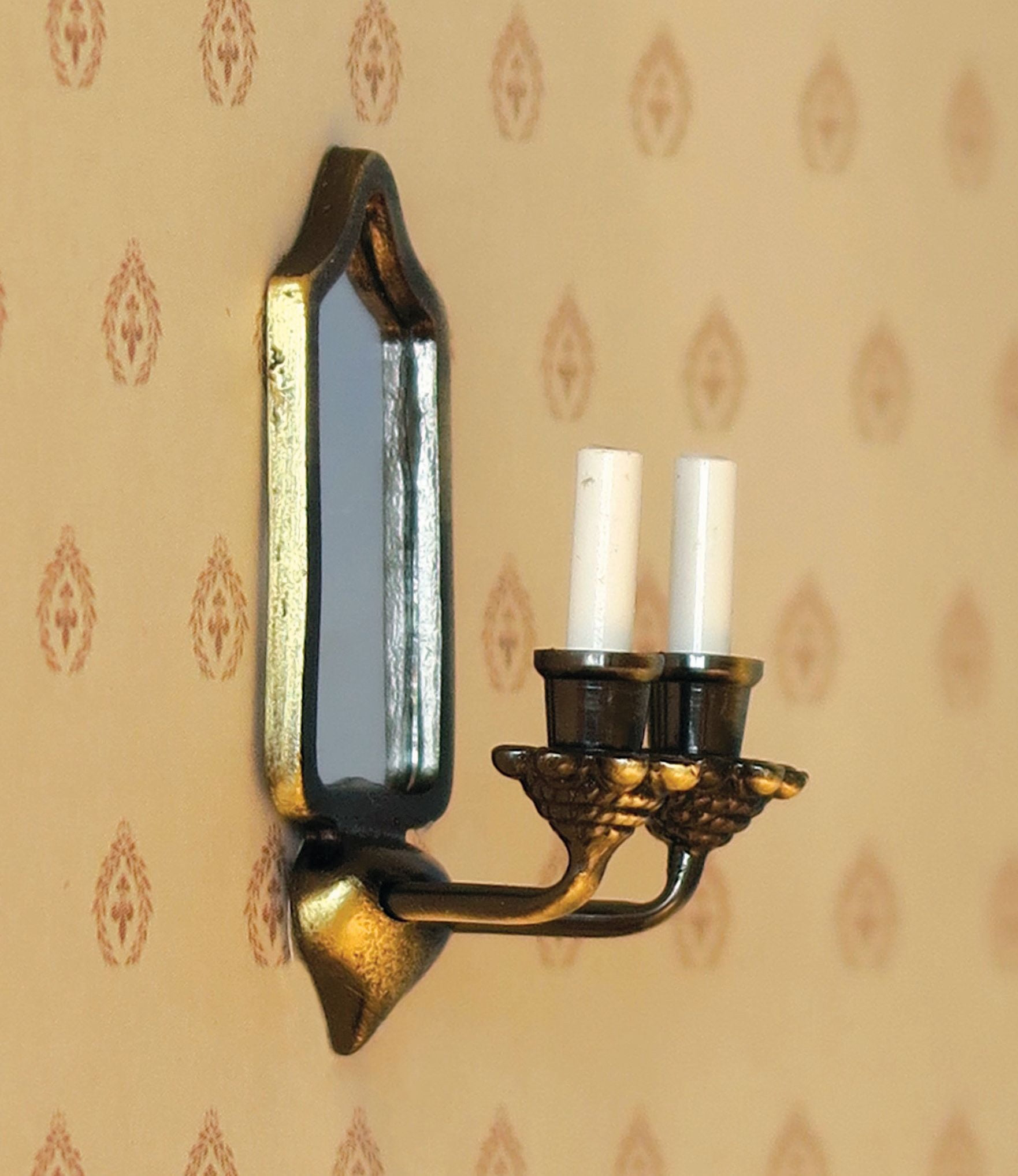 Mirror Wall Candle Sconce 12v 12th Scale For Dolls House Hobbies