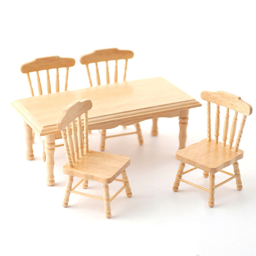 Pine Kitchen Table Amp Amp 4 Chairs For 12th Scale Dolls House