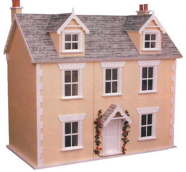 River cottage 12th scale victorian style dolls house for Victorian style kit homes