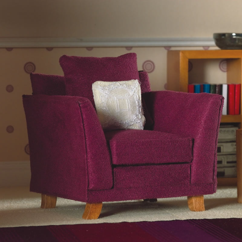 12th Scale Soft Plum Armchair Available From Hobbies The UK 39 S Favourit