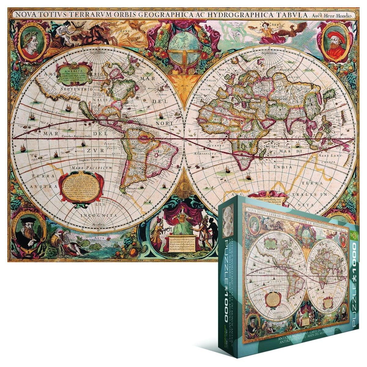 Eurographics antique world map 1000 piece jigsaw puzzle 60001997 eurographics antique world map 1000 piece jigsaw puzzle gumiabroncs Images