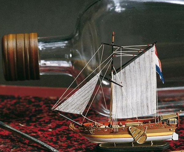 Amati Golden Yacht Ship In A Bottle Kit 1350 Hobbies