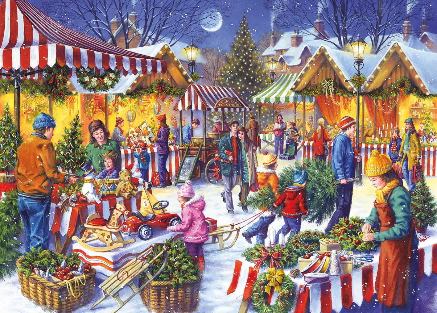 Christmas Fayre By Tony Ryan 1000 Piece Jigsaw Puzzle