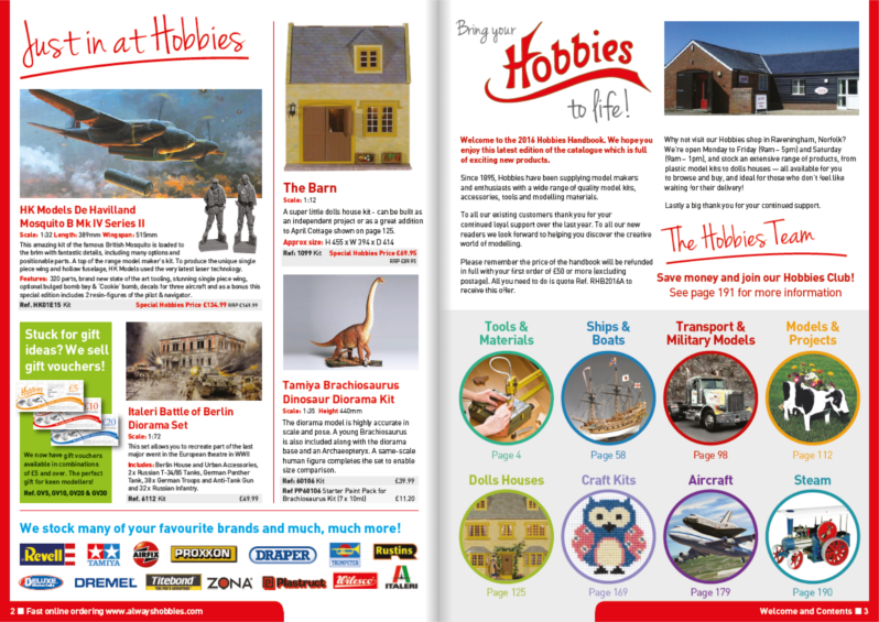 Hobbies 2016 Inside Cover Pages