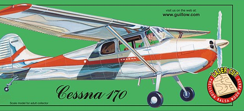 Guillows Cessna 170 Balsa Flying Model Airplane Kit